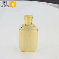 100ml gold uv empty glass spray pump perfume bottles with perfume cap