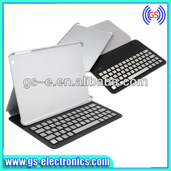 Acción grande para desmontable bluetooth wireless keyboard caso de la cubierta para el ipad mini