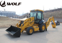 WOLF hydraulic small backhoe loader JX45 for sale