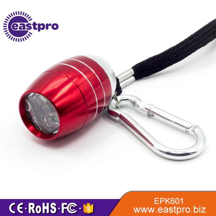 CE RoHS certification water resistant flashlight keychain key