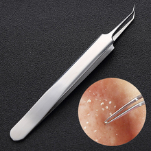 Free sample stainless steel blackhead remover tool private label acne pimple extractor blackhead tweezer