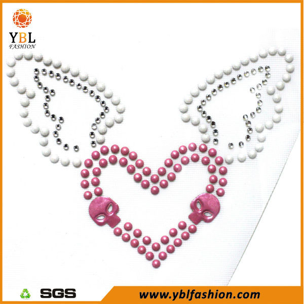 Rhinestone Motif Heart & Angle Transfer For T shirt And Dress