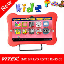 New 7'' allwinner kids tablet android 4.0 tablet free game download