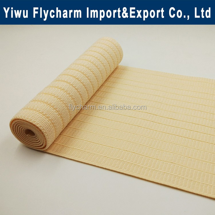 Manufacturer elastic band woven knitting elastic tape for orthopedic belly bandage