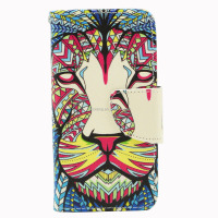 Leather printed sublimation printing case for samsung galaxy s4 mini leather flip cover accept OEM