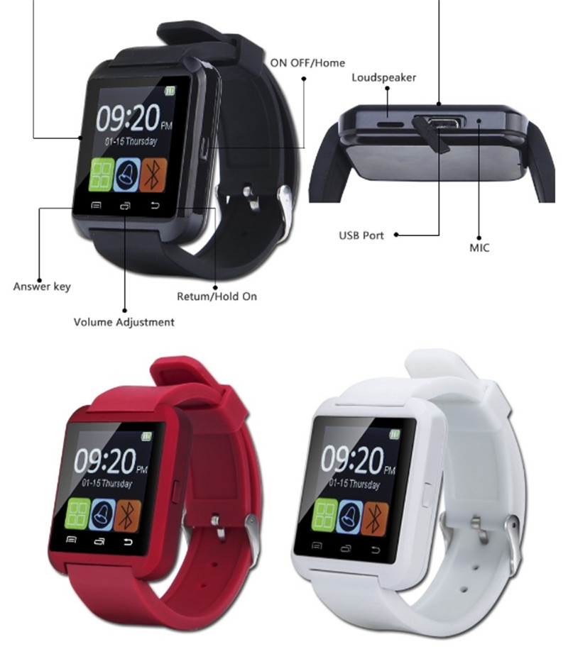 Shenzhen Gooky Big promotion bluetooth Vibration smart watch u8 a1 smart watch for New Year