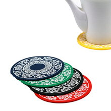 Fashion style round shape silicone coffee cup coaster