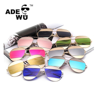 ADE WU Luxury Brand Designer Women men Sunglasses Ladies Oval Alloy Sun Glasses Driving Shades Retro lentes de sol mujer