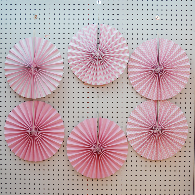 6 Pieces set decorative fan paper ,wall hanging paper fan