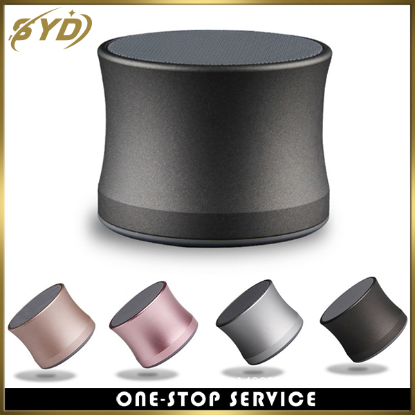 Portable mini steel wireless speaker 2017 OEM speaker for sale