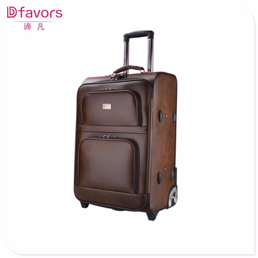 Brand new fashion travel bags and luggages cheap pu luggages from baigou eminent decent fancy trolley bag in stock