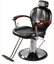 WT-3201 Black Hair salon styling chair chrome round base T-bar footrest
