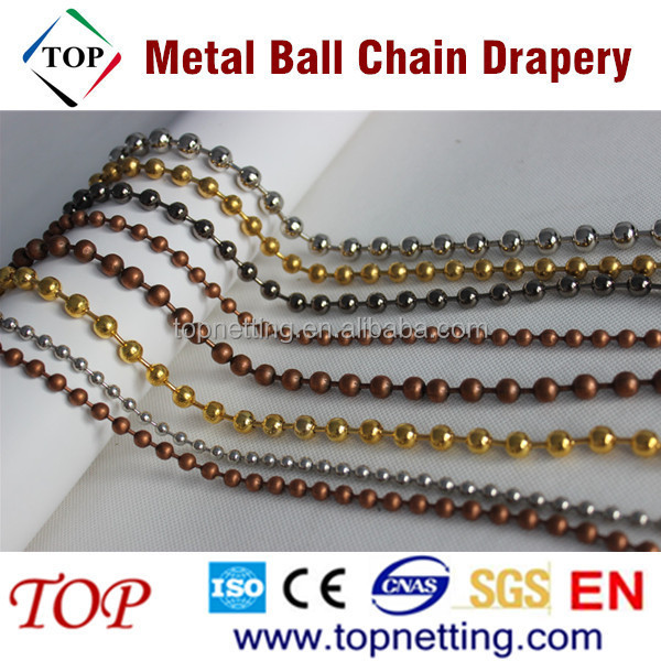 Hanging Divider Silver 6mm Metal Ball Chain Drapery