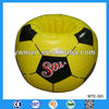 PVC inflatable soccer cooler with CMYK logo printing, inflatable football cooler