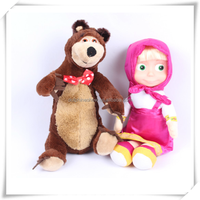 Lovely stuffed plush masha and bear