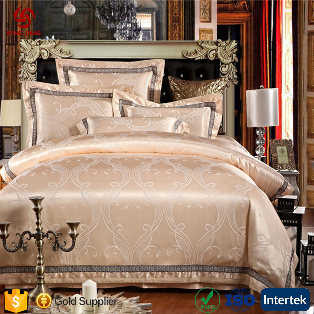 Whosale 4pcs Luxury Jacquard Cotton Duvet Cover Sets Hotel Comforter Sets