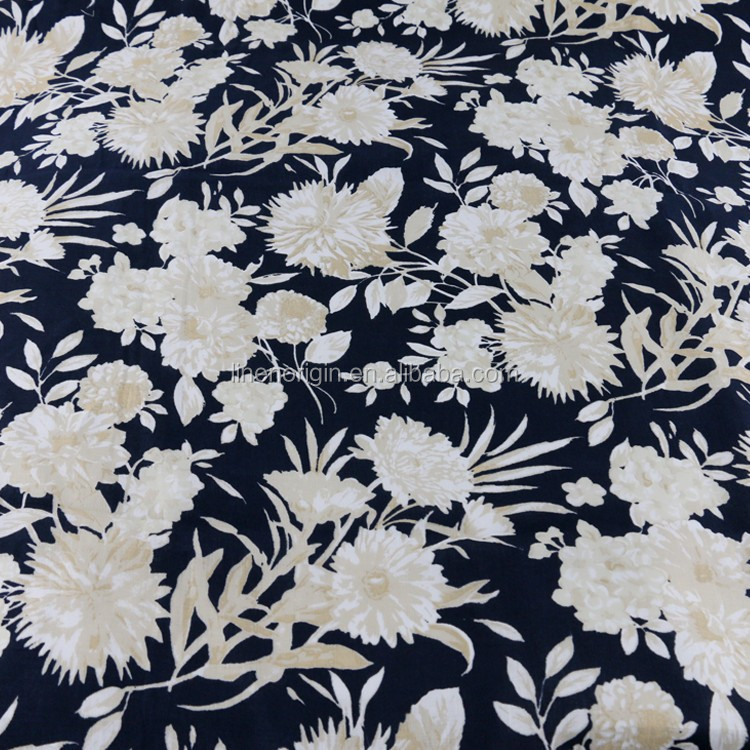 100% printed linen fabric wholesale