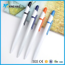 2016 Pen manufacturer bulk sale cheap white plastic disposable ballpoint pen for students