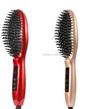 Red magic ionic steam comb steam brush for straightening hair