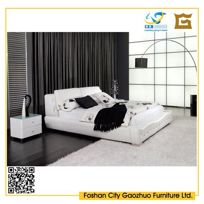 modern design pu leather wooden frame bedroom furniture queen size bed dimensions