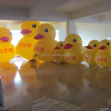 PVC giant inflatable promotion display,inflatable yellow duck, Popular inflatable promotion duck
