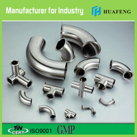 Stainless steel food grade transite pipe transition fittings