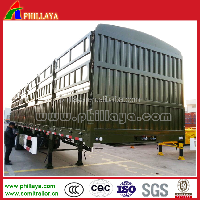 China manufacture high qality heavy duty fence cargo truck trailer for sale
