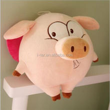 Lovely pink color pig animal customized stuffed toy