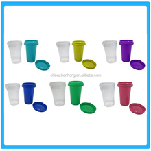 Double Wall Disposable Plastic Cup OEM Insulated Plastic Mug With Lid