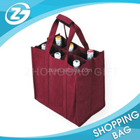 Wholesale Promotional 6 Bottles Non-woven Wine Bag