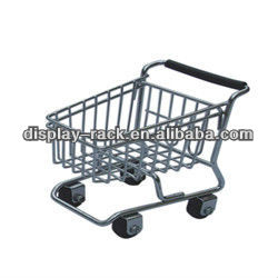 cute zinc plated smart supermarket shopping toy car shopping trolley HSX-825