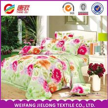 125gsm polyester fabric 3D printing 100% microfiber bedding set /bed sheet/duvet cover