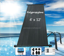 Plastic solar pool heater collectors with size 2x1m