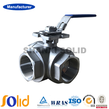 CF8/CF8M BSPT Thread 3-Way Ball Valve 1000WOG Manufacturer