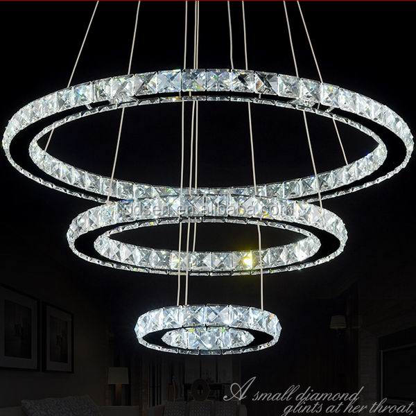 Round Circle Ring Modern Fancy Crystal Chandelier Buy