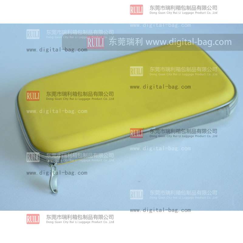 Yellow Oblong silvery CD case waterproof CD security cases hard tool boxes