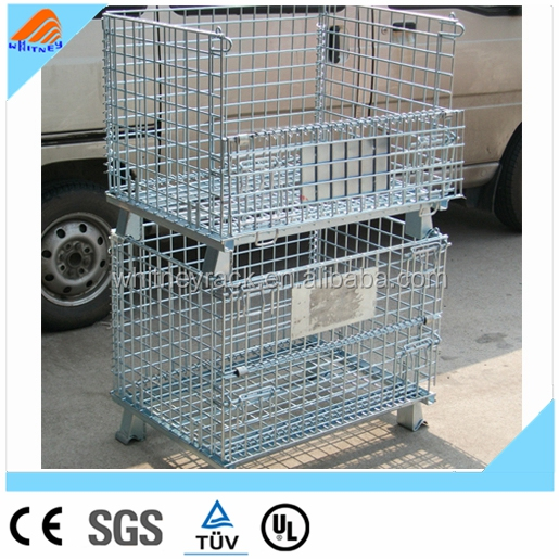 Medium Duty Scale Wire Container,wire cages with wheels,Heavy Duty Scale portable storage cage