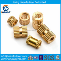 Buy brass round knurled threaded insert nut in China on Alibaba.com