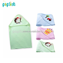Super soft cotton terry towel newborn baby hooded blanket