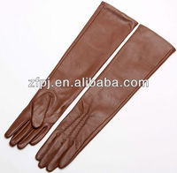 Ladies classy soft elbow length opera leather gloves