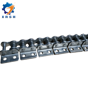 Stainless steel double pitch roller chain A2 attachment with straight plate