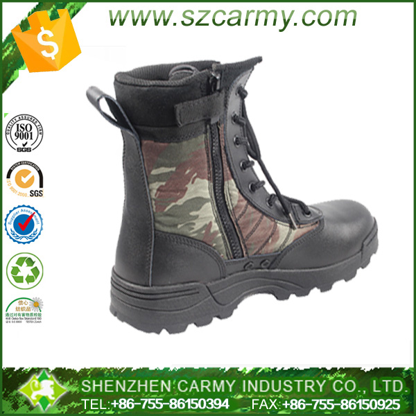 Custom made Brazil military camouflage light men waterproof jungle combat boots