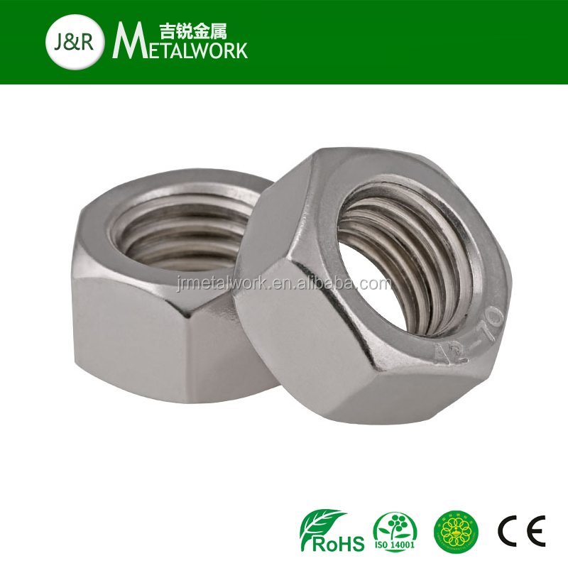 A2 A4 SS304 SS316 Stainless steel Hexagon / Hex Nut DIN934