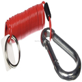 Attractive Size Plastic Spring Retractable Wire Coiled Cable Lanyard with Swivel Spring Steel Hooks
