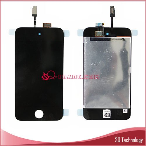 for iPod Touch 4 LCD Display with Digitizer Black and White