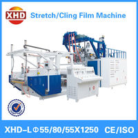 Soft hardness and casting processing type pe stretch cling film machine