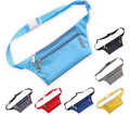 bright color 600D polyester easy carry waist wallet
