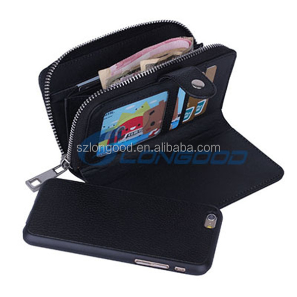 2 in 1 4.7 inch Leather cell couple leather phone case for iphone6