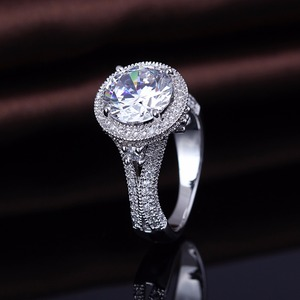 Designer Costume Cz Engagement Jewelry Rings With Packing