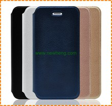 High quality Lichee Pattern leather flip case for iphone 7